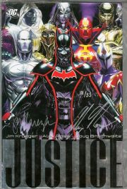 Justice Volume 3 Hardcover Graphic Novel Dynamic Forces Signed Alex Ross & Jim Krueger DF COA Ltd 35